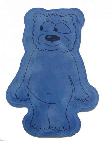 Wärmekissen Teddy für die Mikrowelle in blau
