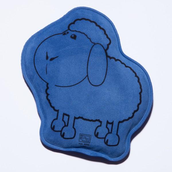 Wärmekissen Schaf für die Mikrowell in blau